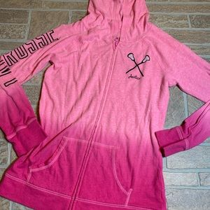 Justice 12 Pink Lacrosse Sweatshirt Girls Zip